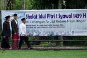 Jokowi Salat Id Bersama Ribuan Warga di Kebun Raya Bogor
