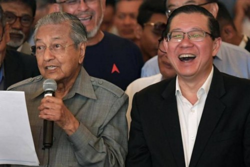 PM Malaysia Mahathir Mohamad dan Menkeu Lim Guan Eng. (Foto: