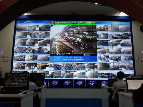 Kemacetan di Nagreg terpantau dari kamera pengintai di Posko