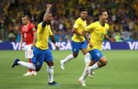 Coutinho Bawa Brasil Unggul atas Swiss di Paruh Pertama