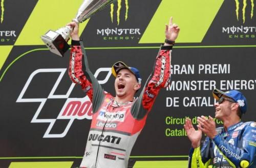 Jorge Lorenzo juara MotoGP Catalunya. (Foto: Crash)