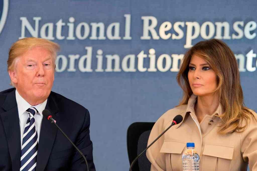 Melania Trump (kanan) memprotes kebijakan imigrasi milik suaminya. (Foto: AFP)