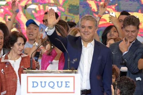 Presiden Kolombia yang baru Ivan Duque dan wakil presiden wakil