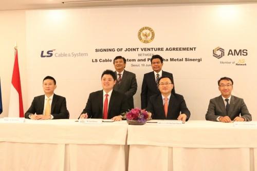 Penandatanganan MoU pembangunan pabrik kabel listrik Korsel di