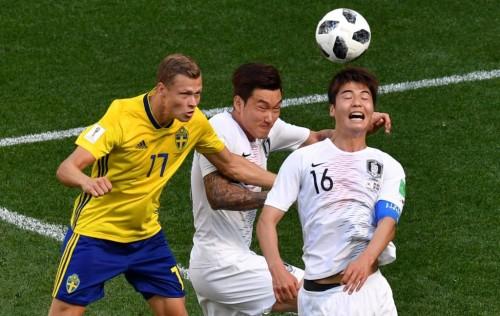 Situasi Pertandingan Swedia vs Korea Selatan (Foto: AFP/Dimitar