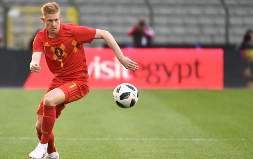 Kevin De Bruyne tampil sebagai starter saat Belgia menghadapi