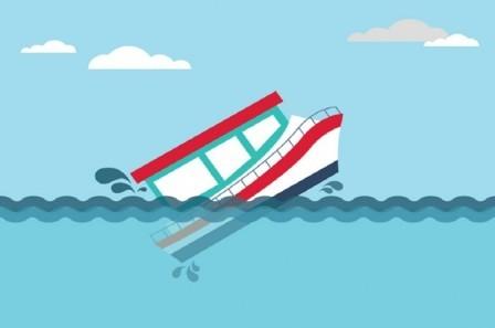 Ilustrasi kapal tenggelam, Metrotvnews.com.