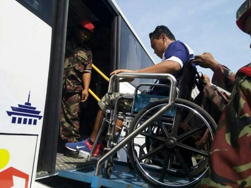 Sejumlah pemudik disabilitas dilepas kembali menuju Jakarta pada
