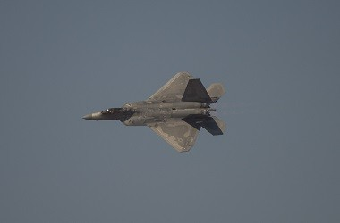 Pesawat jet tempur F-22 Raptor milik AS. (Foto: AFP)