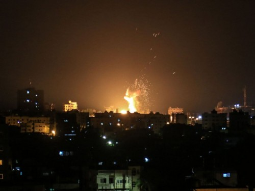 Gempuran Israel di Gaza. (Foto: AFP).