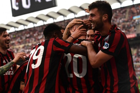 Skuat AC Milan. (Foto: AFP PHOTO / MIGUEL MEDINA)
