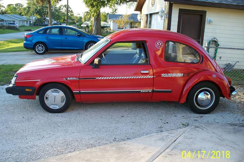 Begini tampilan kombinasi Subaru GL dan Volkswagen Beetle. Carscoops