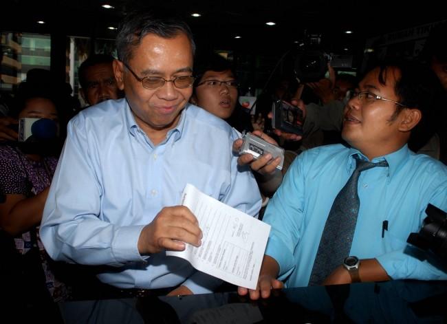 Mantan Kepala Badan Penyehatan Perbankan Nasional (BPPN) Iwan Ridwan Prawiranata/ANT/Andika Wahyu.