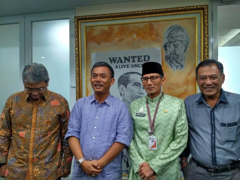 Wakil Gubernur DKI Jakarta Sandiaga Uno menemui Ketua DPRD Prasetyo Edi Marsudi - Medcom.id/M Sholahadhin Azhar.