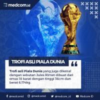 Trofi Asli Piala Dunia dari Emas