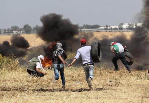 Protes yang dilakukan oleh warga Gaza menentang kekuasaan Israel