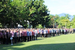 Tunjangan ASN yang Absen di Apel Perdana Dipotong