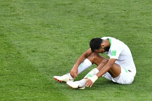 Saudi Arabia midfielder Abdullah Otayf reflects after his side