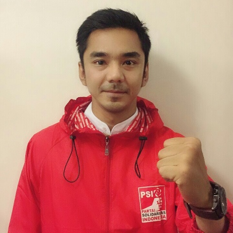 Juru bicara Partai Solidaritas Indonesia (PSI) bidang Kepemudaan, Dedek Prayudi.