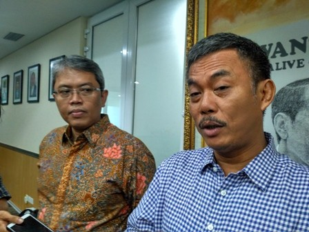 Sekretaris DPD PDI Perjuangan (PDIP) DKI Jakarta Prasetyo Edi Marsudi  (kanan). Medcom.id/Nur Azizah
