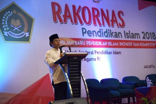 Dirjen Pendidikan Islam, Kemenag, Kamaruddin Amin, Dokumentasi