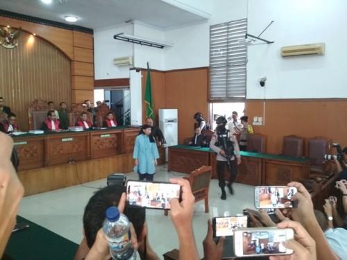 Aman Abdurrahman di Pengadilan Negeri Jakarta Selatan--Medcom.id/Deny Irwanto