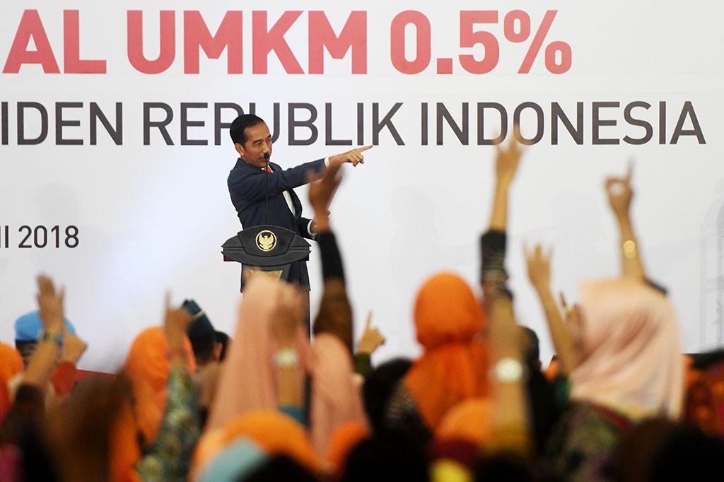 Jokowi luncurkan PPh Final UMKM 0,5 persen di Surabaya