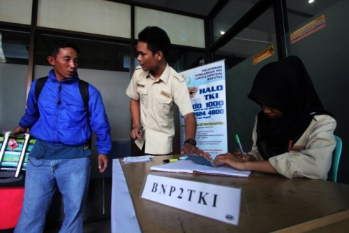 Ilustrasi: Petugas BNP2TKI (Foto:Antara/Aswaddy Hamid)