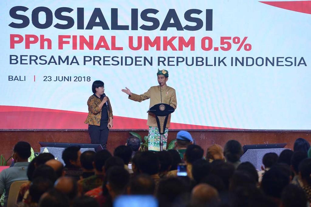 Jokowi: UMKM Harus Konsisten Manfaatkan PPh 0,5%