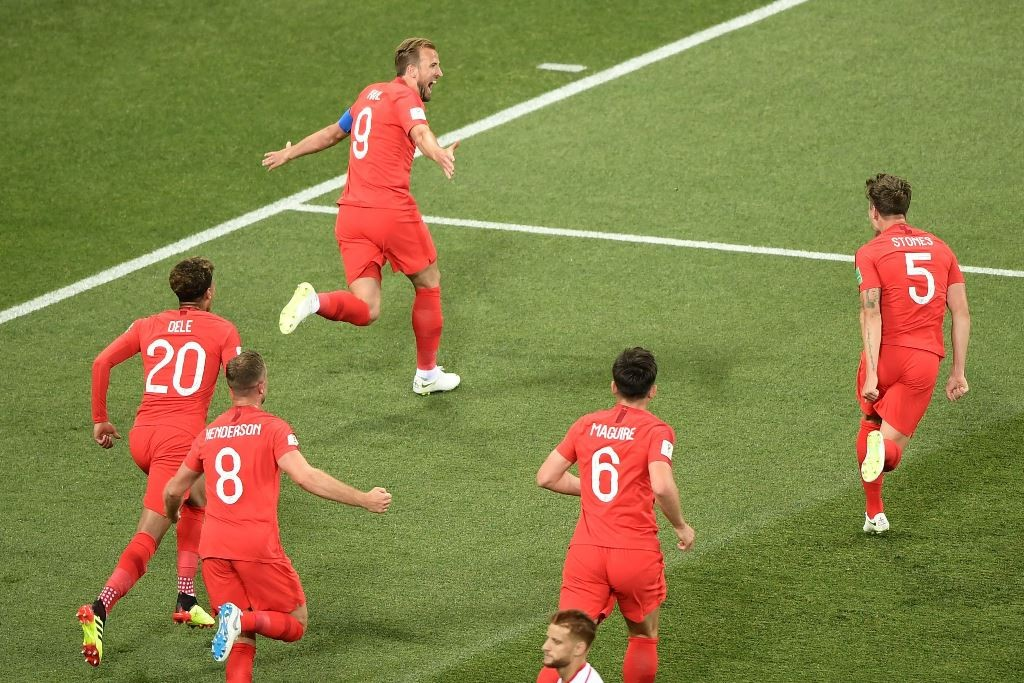 Para pemain Timnas Inggris (AFP PHOTO / NICOLAS ASFOURI)