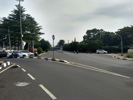Arus lalu lintas sekitar TMII/Medcom.id/Kautsar Prabowo