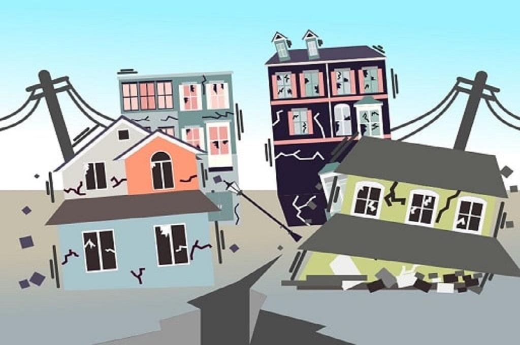 Ilustrasi bangunan roboh. (Foto: Medcom.id)