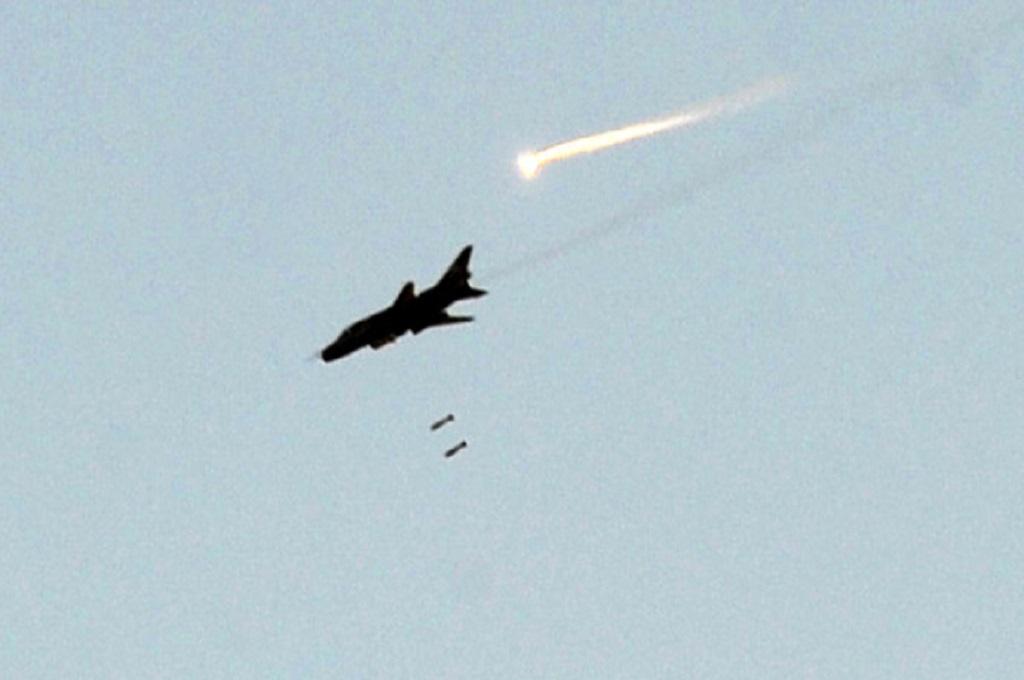 Pesawat jet tempur milik Suriah. (Foto: AFP)