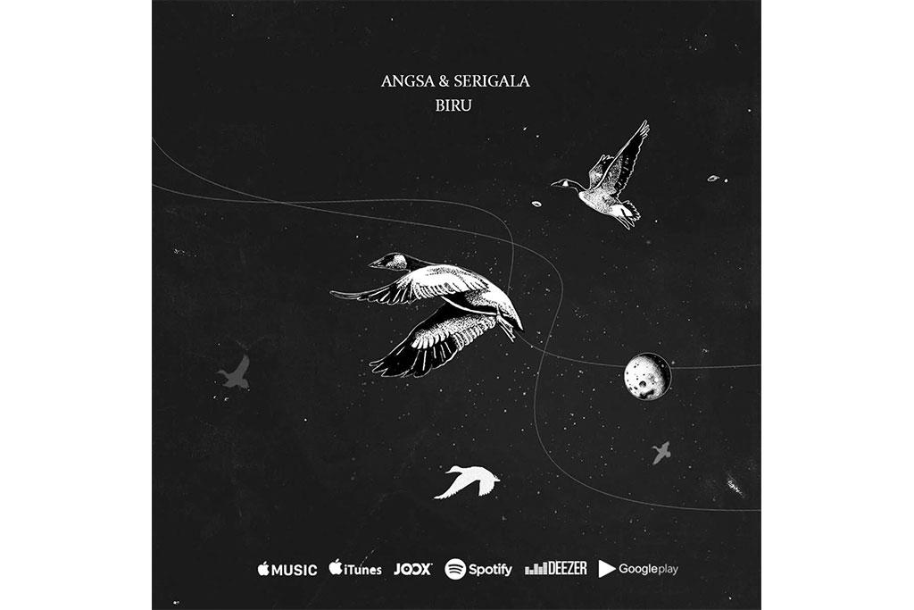 Desain visual singel Biru (Foto: Angsa & Serigala)