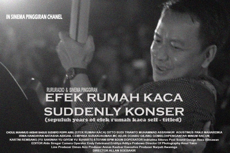 Poster video dokumenter konser Efek Rumah Kaca (Foto: Sinema Pinggiran)