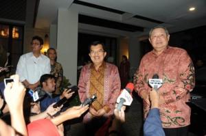 Wapres JK dan SBY tak Bicara Politik