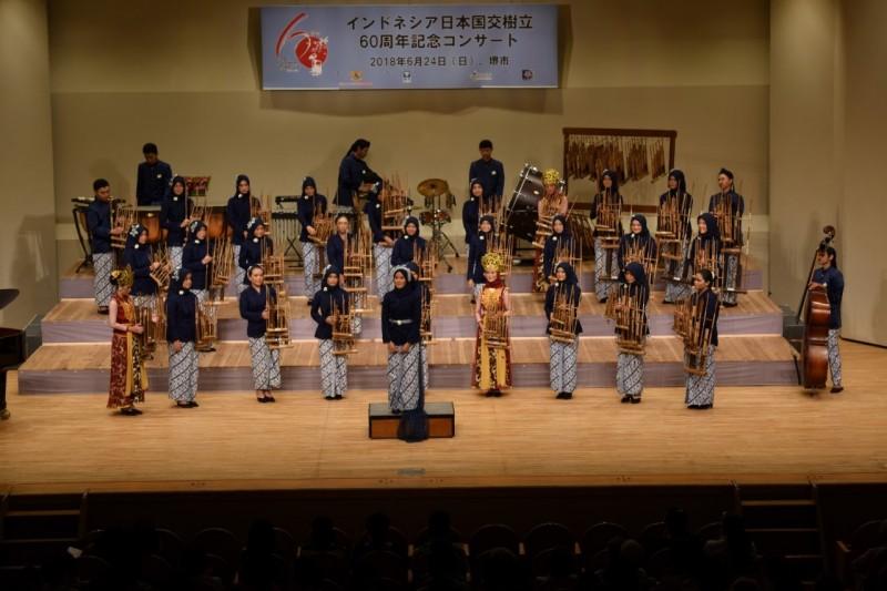 Gelaran konser memperingati 60 tahun hubungan Indonesia-Jepang. (Foto: Dok. KJRI Osaka)
