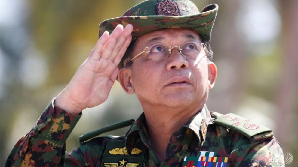 Panglima Militer Myanmar Min Aung Hlaing. (Foto: AFP/LYNN BO BO).