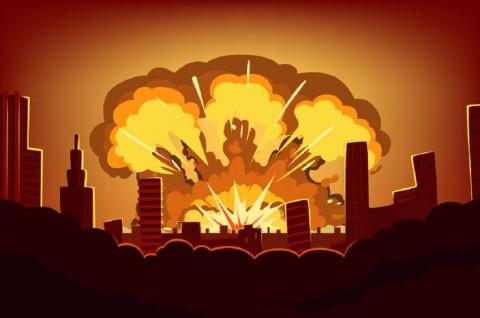 Ilustrasi ledakan. (Foto: Medcom.id)