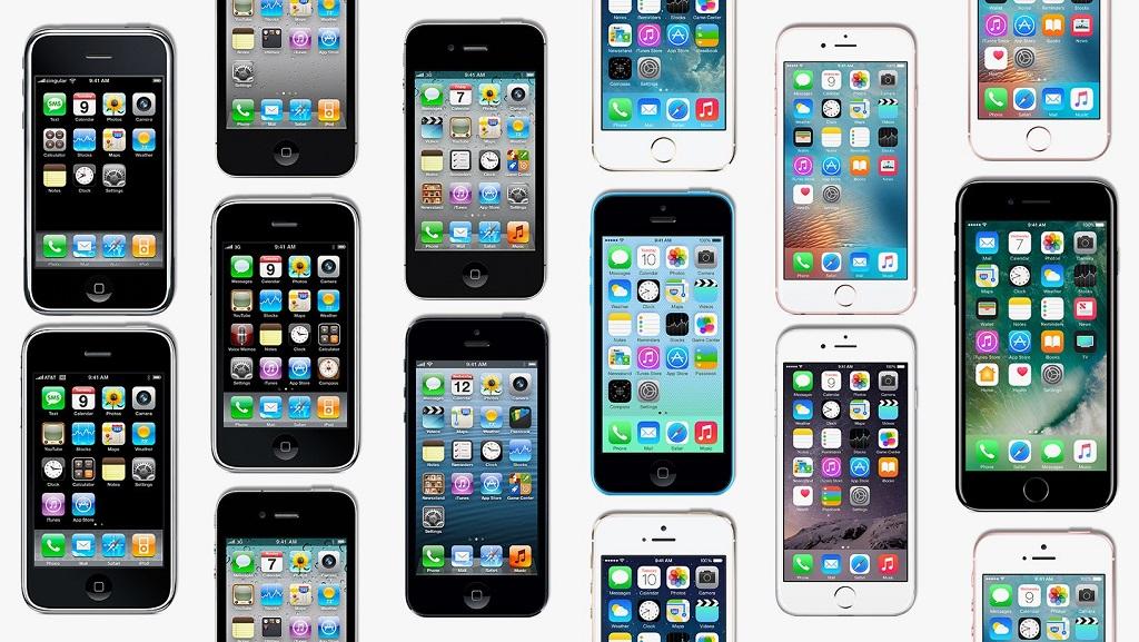 Kumpulan seri iPhone. (Wired)