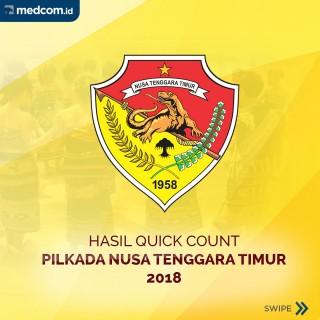 Hasil Hitung Cepat Pilkada Nusa Tenggara Timur 2018