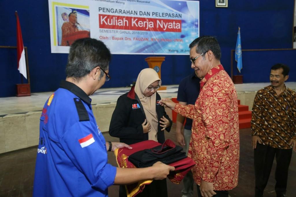 Universitas Muhammadiyah Malang (UMM) melaksanakan Pengarahan dan Pelepasan Kuliah Kerja Nyata (KKN) tahun ajaran 2018/2019, Medcom.id/Daviq Umar Al Faruq.