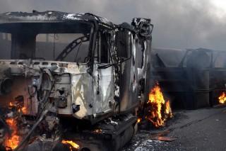 Truk Tanker Bahan Bakar Meledak, 9 Tewas