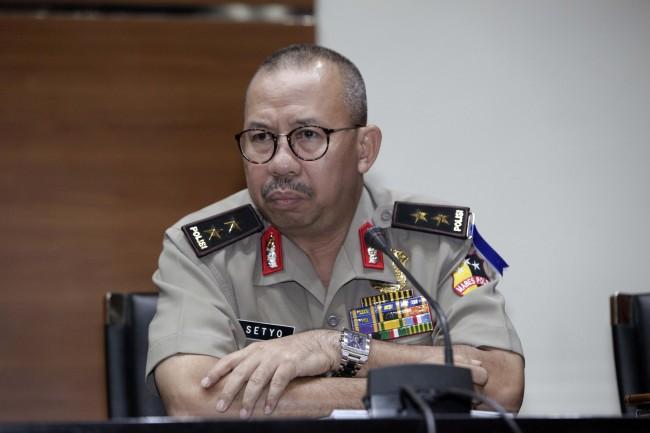 Kepala Divisi Humas Mabes Polri Inspektur Jenderal Setyo Wasisto - MI/Rommy Pujianto.