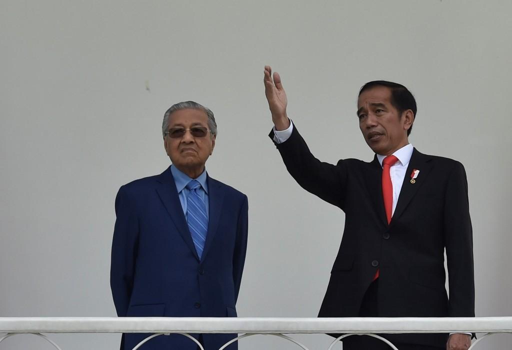 President Joko Widodo (right) and Malaysian Prime Minister Mahathir Mohamad (Photo:Antara/Puspa Perwitasari)