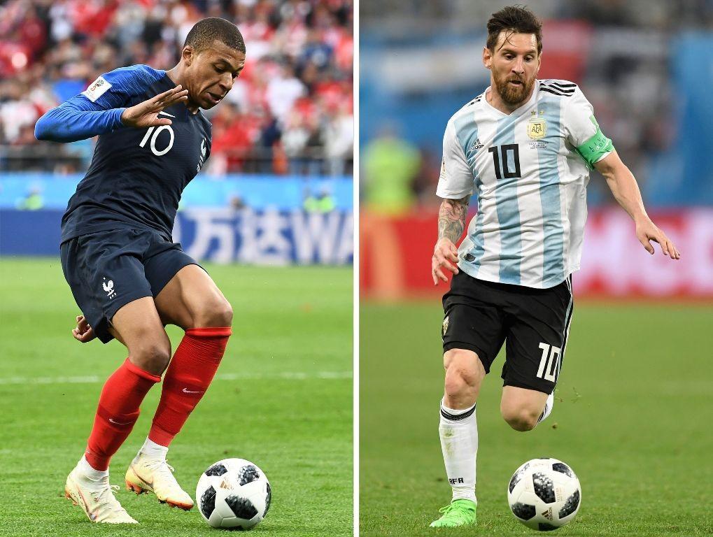 Duel bintang Kylan Mbappe dan Lionel Messi (Foto: AFP)