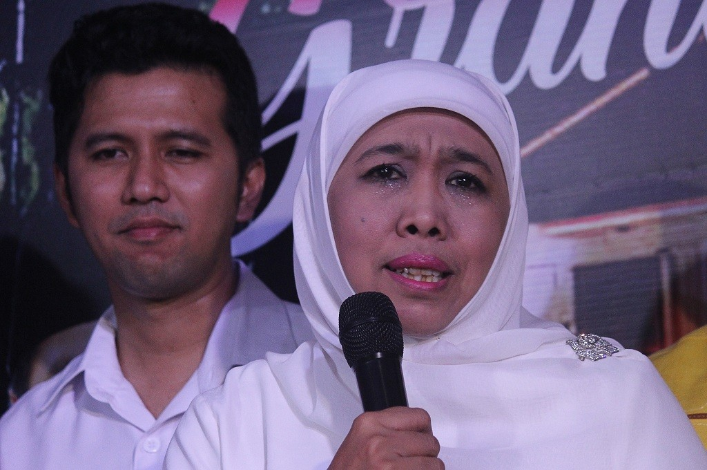 Khofifah dan Emil memberikan keterangan pers di Surabaya, Rabu, 27 Juni 2018, Ant - Moch Asim