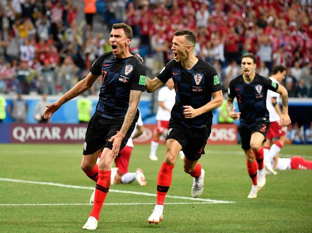 Selebrasi gol Mario Mandzukic. (AFP PHOTO / Alexander NEMENOV)