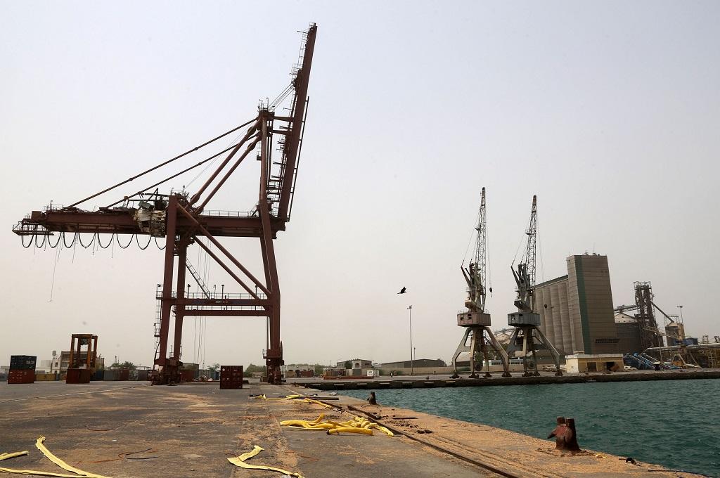 Pelabuhan Hudaida di Yaman. (Foto: AFP/ABDO HYDER)
