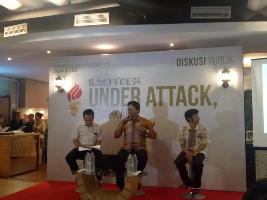 Suasana Diskusi Publik 'Islam Under Attack' di Jakarta, Senin 2 Juli 2018, Medcom.id/Intan Yunelia.